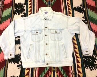 Vintage 90s Hard Rock Cafe Phoenix Denim Jean Jacket Size Large