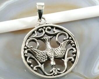 Dove of peace, silver pendant - 2404