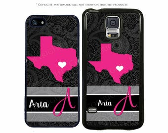 Choose Your State French Pattern Personalized Phone Case For Samsung Galaxy S8, S8 Plus, S7, S7 Edge, LG G6, Google Pixel, Pixel XL, Note 8