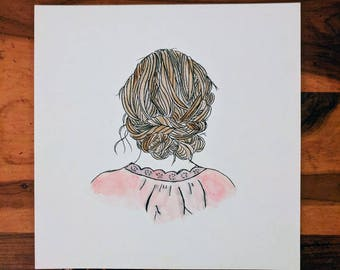 Girl Hair Watercolor