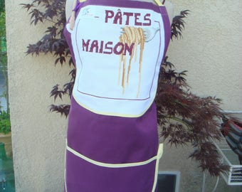 APRON EMBROIDERED LINEN PASTA
