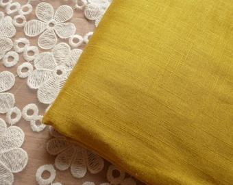 linen fabric cotton unique yellow 3 m