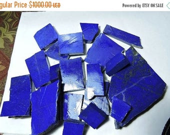 summer sale 4000 Carats Top Quality Natural Undyed Lapis Lazuli Rough Slabs Best Quality Undyed Rough Slabs Size  60X14X7 - 75X63X13 Mm