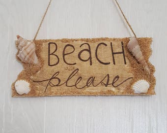 Beach Please Sign