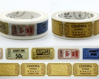 SALE!!Cinema ticket Washi Tape/Deco Masking Tape/Planner Sticker/ Deco tape TZ2028