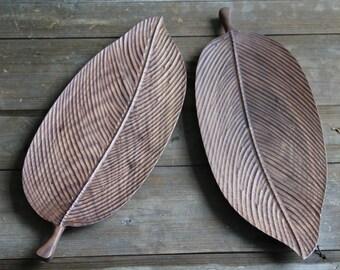 Handmade Walnut  wood   plate