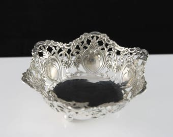 Solid silver bonbon dish tray