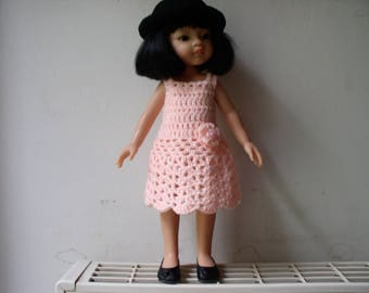 salmon crochet doll paola reina pink dress