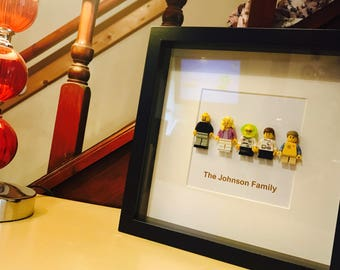 Fathers Day Gift - Lego family frame - personalised!