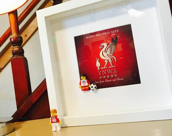 Liverpool FC Print Gift - With Lego Mini Figure