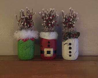 Holiday Mason Jar - your choice of style