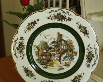 Wood and Sons England Ascot Service Fine Porcelain Collectible Plate - 10.5 inches