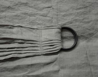 Linen Ring Sling Baby Carrier - Slate Grey