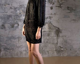 Handmade Black Lace Dress By Ellie Day Collection