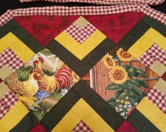 Set of 4 Placemats Chicken