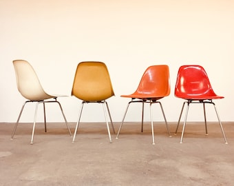 Lovely Vintage Herman Miller | Eames Multicolor Set (4) Shell Chairs | Mid Century