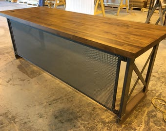 The Industrial Carruca Office Desk - Large Executive Desk - Modern Industrial Office Design