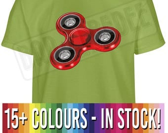 Kids Fidget Spinner T Shirt | Figit Figet Gift | Free Delivery to UK Customers | International Tracked Delivery