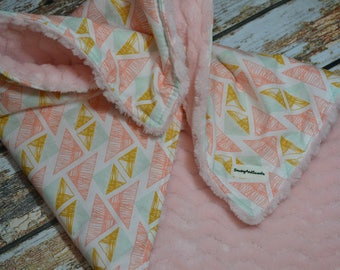 Lovey - small baby blanket - blankie - lovie