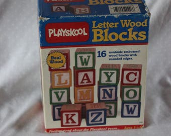 Playskool Letter Wood Blocks