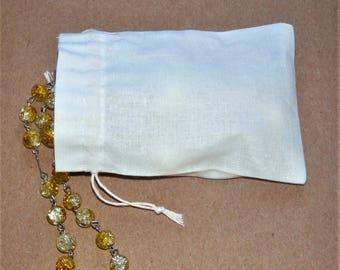 "15 White Promotional Pouch * Custom Bags * Wedding Favor * 4""x 5.5"" ( 10cm x 14cm)"