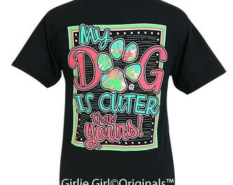 Girlie Girl Originals My Dog Black Short Sleeve T-Shirt