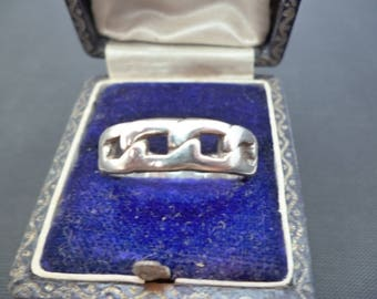 A superb chunky mens silver ring - 925 - sterling silver - Full UK Hallmark - UK R - US 8.75