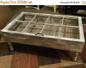 On Sale Coffee Table Window Pane Table Shadow Box Table Reclaimed Wood Table