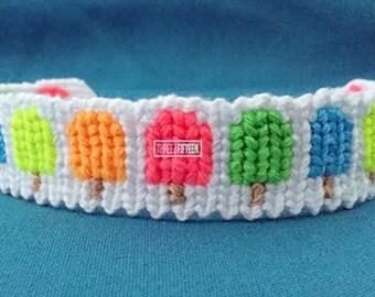 Summer Popsicle knotted friendship bracelet