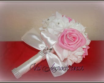 Romance bouquet pink white and pink