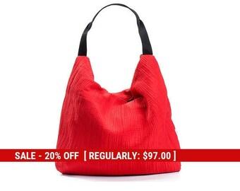 red bag - red purse - evening purse - vegan hobo bag purse - small hobo bag - vegan bag - party bags for women - red shoulder bag - PETELS