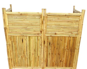 "Four panel bamboo screen enclosure , 24""W x 48""H per panel, BSC-884"