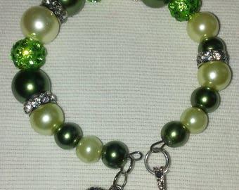 Green Pearls Bracelets