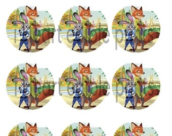 Zootopia inspired cupcake toppers