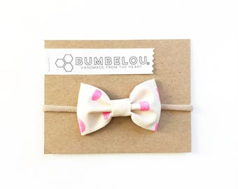 Classic Fabric Bow - Mod Moonglow - Headband or Clip