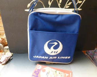 JAPAN AIRLINES vintage 70scollectible tote bag carryontravel shoulder bag