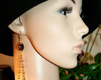 Baroque earrings - the rider on horse