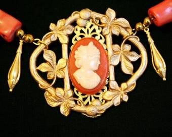 Antique baroque necklace - coral for FLAVIA