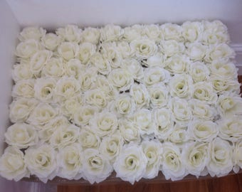 IVORY Flower Wall Backdrops Silk Roses Floral Wedding Background For Bridal Photography Backdrops Panels 40*60cm