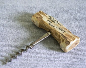 Extremely Rare and Collectable Corkscrew, the Handle Being Made of Part of an Antler from a Pere David Deer.
