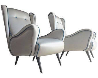 Marco Zanuso Lady Chairs Armchairs Pair Italian Mid Century 1950 Italian