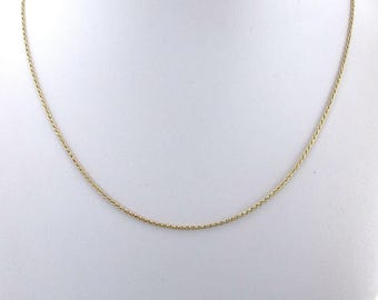 14k Yellow Gold Rope Necklace - 14k Gold Rope Chain 18 Inches 2.7 grams