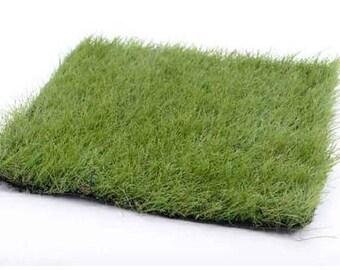 Fairy Garden  - Artificial Green Grass Mat - Miniature