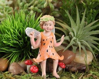 Fairy Garden  - Tiger Lily Fairy - Coral - Miniature