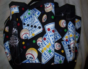 Bingo Cards with cage and balls Cloth Bingo Bag