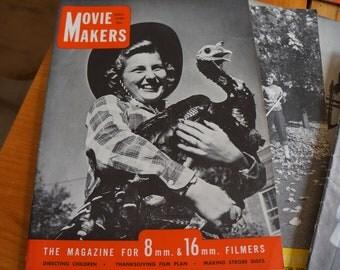 Vintage Movie Makers Magazines 1949-1950