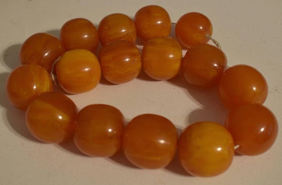 Beads Amber Round Resin Beads Jewelry Necklaces Bracelets Round Resin Beads