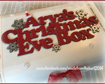Wooden Personalised Christmas Eve Box