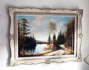Vintage Oil on Board Framed (Original Signed E. Jalava - Listed Artist)