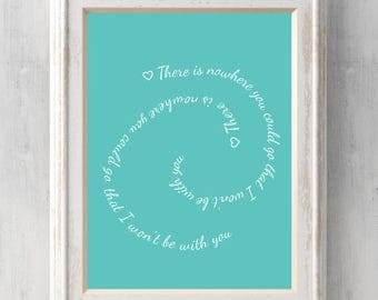 Moana Print  There is nowhere you could go that I won't be with you. Heart of te fiti. Disney. Grandma Tala. All Prints BUY 2 GET 1 FREE!